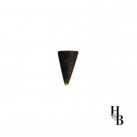 Plaque bombée triangle metal